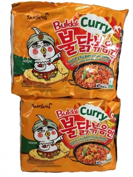 Instant Nudeln Hot Chicken Curry Sam Yang 145g